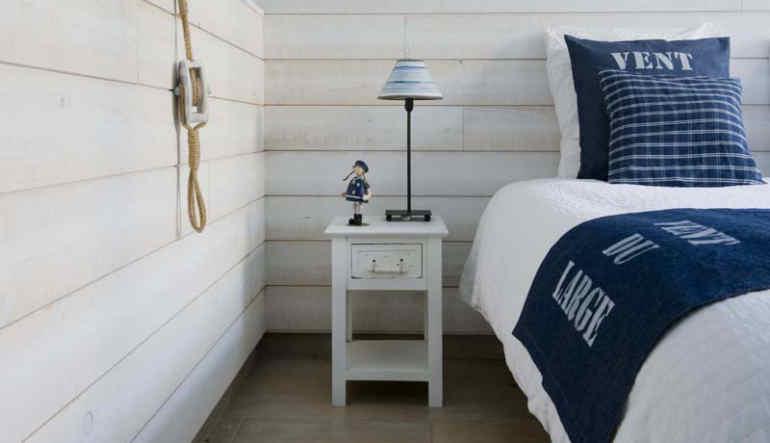 Ambiance marine dans une chambre à coucher